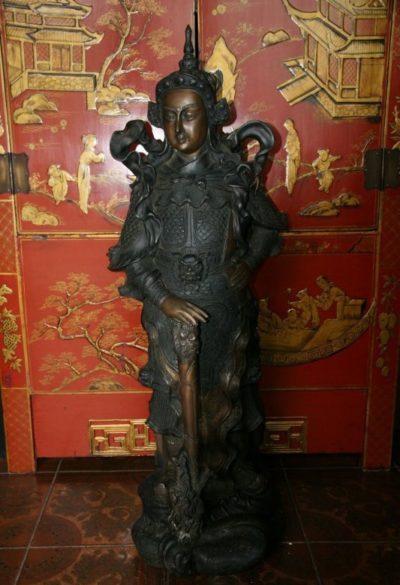 Thai Krieger Drachenkämpfer Bronze