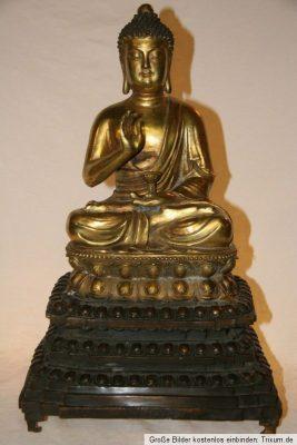 Thai Buddha Bronze Gold