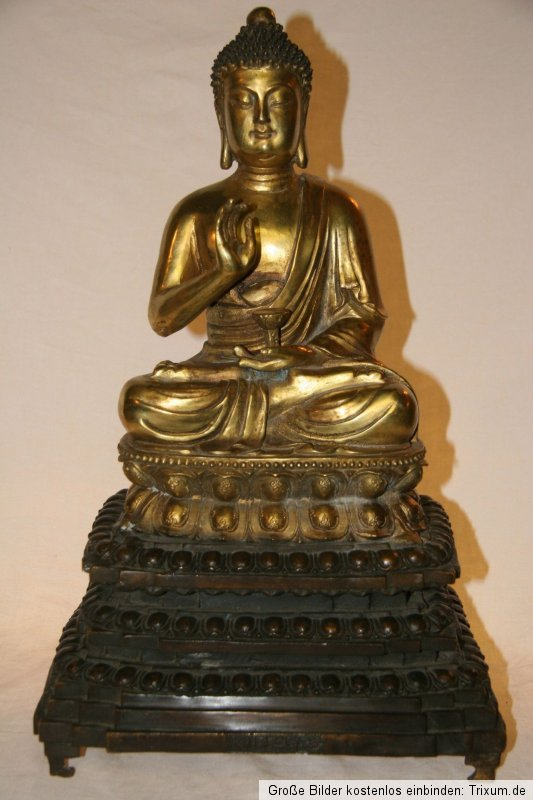 Thai Buddha Bronze Gold