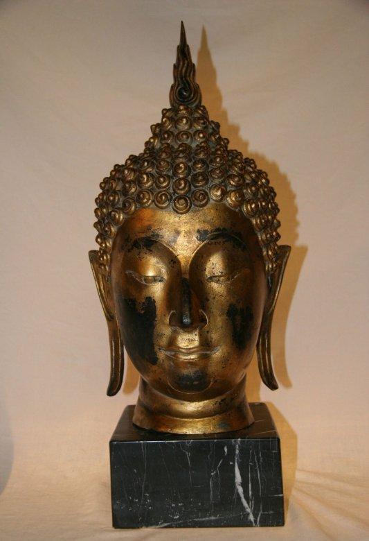 Buddha Kopf aus Bronze