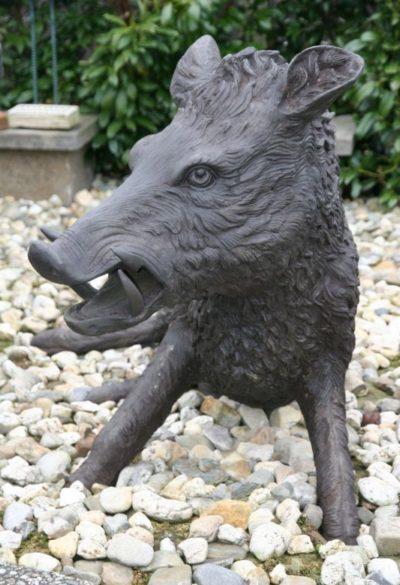 Wildschwein Keiler aus Bronze