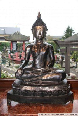 Thailändischer Buddha Bronze Figur