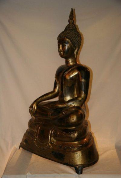 Thai Buddha Bronze Blattgold. Onlineshop asian-garden.de