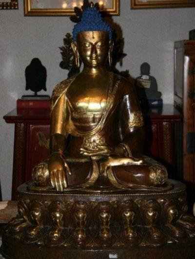 Nepalesischer Buddha aus Bronze