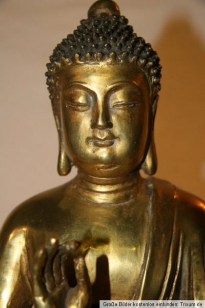 Thai Buddha Bronze Gold. Onlineshop asian-garden.de