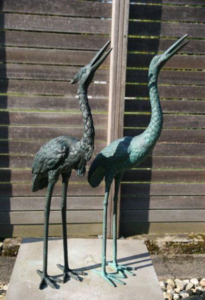 Reiher Vögel aus Bronze