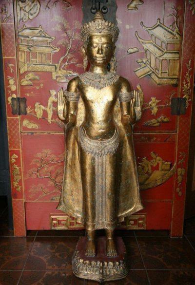 Bronze Buddha aus Kambodscha