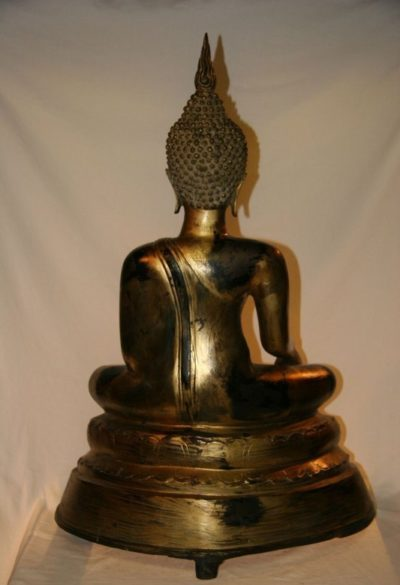Thai Buddha Bronze Blattgold. Onlineshop asian-garden.de