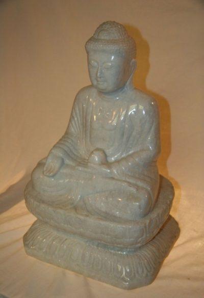 Japanischer Buddha aus Marmor. Onlineshop asian-garden.de