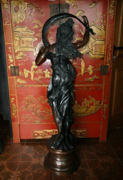Jugendstil Figur Bronze. Onlineshop asian-garden.de