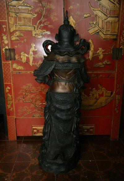 Thai Krieger Drachenkämpfer Bronze. Onlineshop asian-garden.de