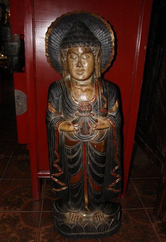 Holz Buddha aus China