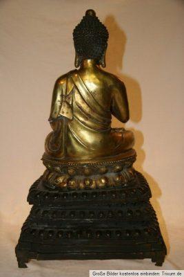 Thai Buddha Bronze Gold. Onlineshop asian-garden.de