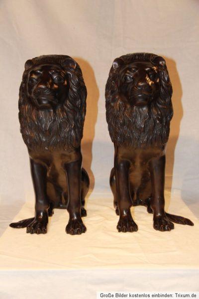 Chinesische Tempel Löwen Paar