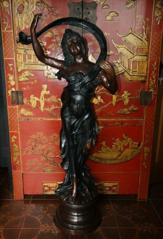 Jugendstil Figur Bronze