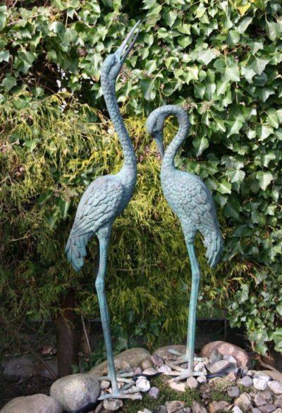 Reiher Paar aus Bronze