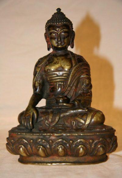 Thai Buddha aus Bronze - alt