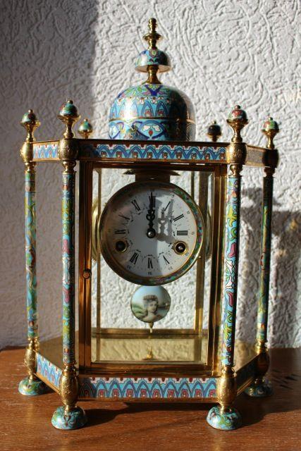 Cloisonné Uhr Kaminuhr