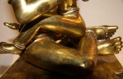 Nepalesischer Buddha aus Bronze - Feuervergoldet Nepal