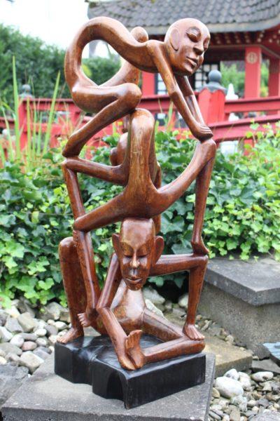 Holz Skulptur aus Java, Indonesien. Maße: 98 x 34 x 28 cm