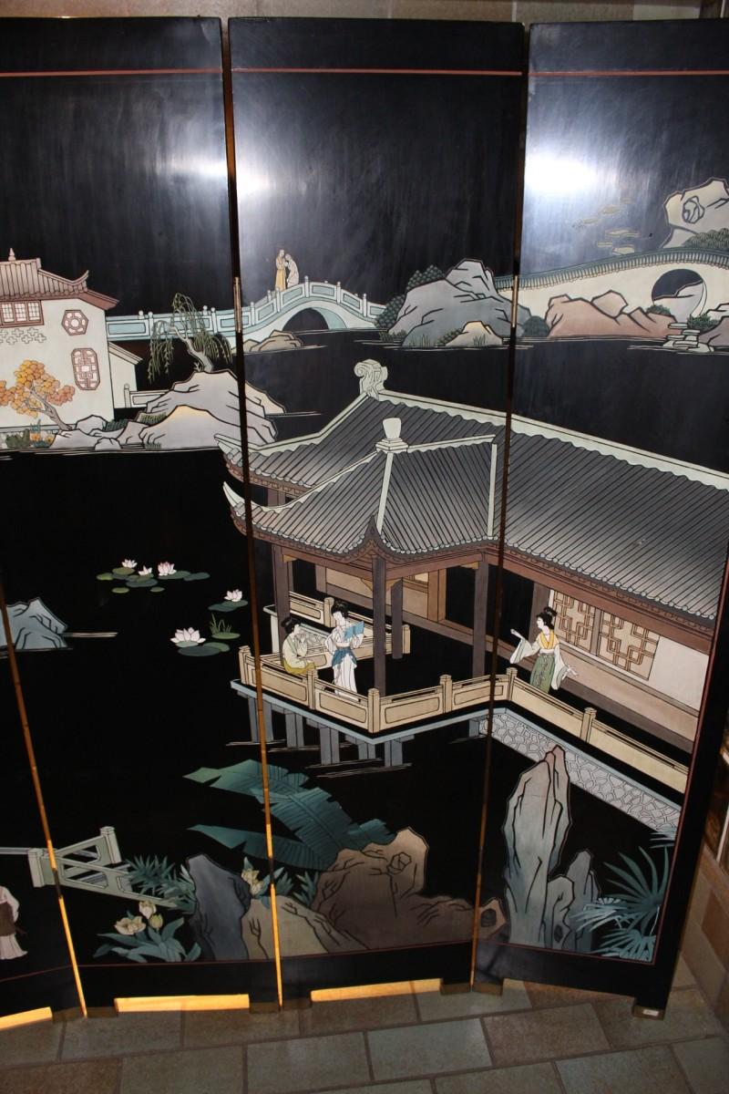 paravent aus china 183x245 cm zu kaufen auf asian. Black Bedroom Furniture Sets. Home Design Ideas