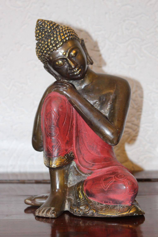 Sitzender Thai Buddha aus Bronze