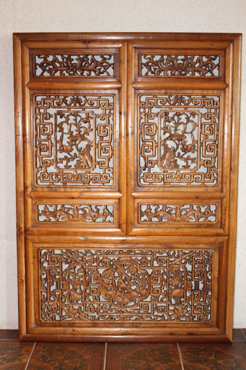 Antikes chinesisches Fenster, 80 Jahre alt. Größe: 135,5 x 96,5 cm