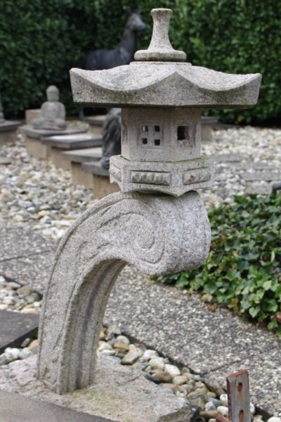 Japanische Steinlaterne Rankei. Größe: 100 x 73 cm