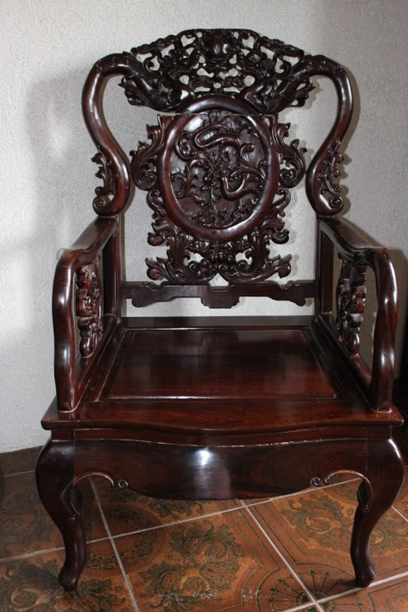 Chinesische Stühle, Antik. Ca. 130 Jahre alt. Größe: 104 x 65 x 59 cm