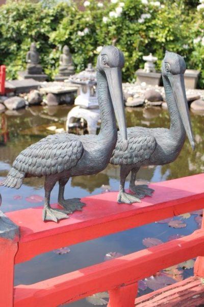 Pelikan Paar. Größe: 60 cm