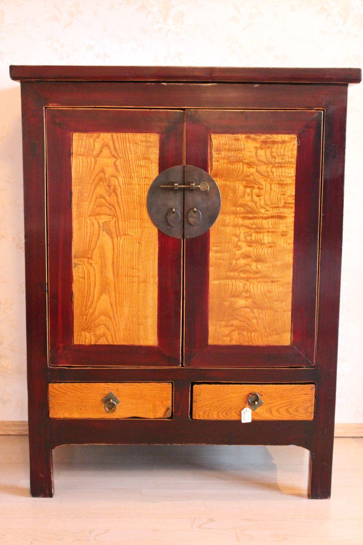 Antiker Chinesischer Schrank. Ca. 100 Jahre alt. Maße: 111 x 85 x 55 cm