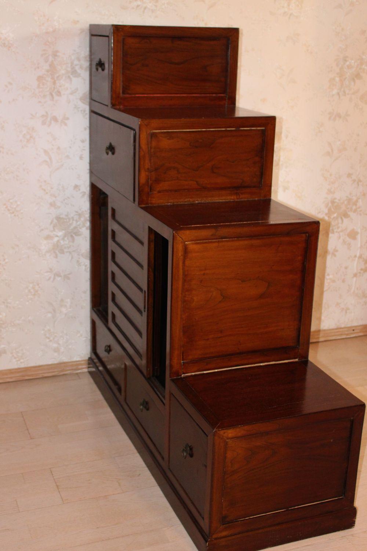 Chinesischer Treppenschrank, 120 x 110 cm | zu kaufen auf asian ...