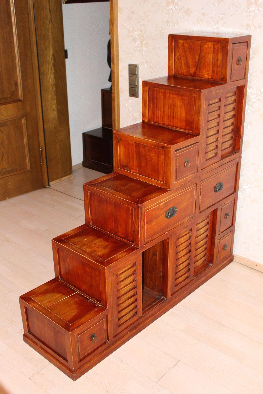 Treppenschrank aus China, 140 x 137 cm | zu kaufen auf asian-garden.de