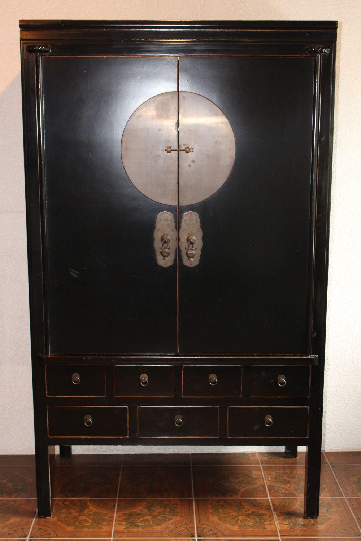 Hochzeitsschrank aus China. Maße: 189,5 x 112 x 64 cm
