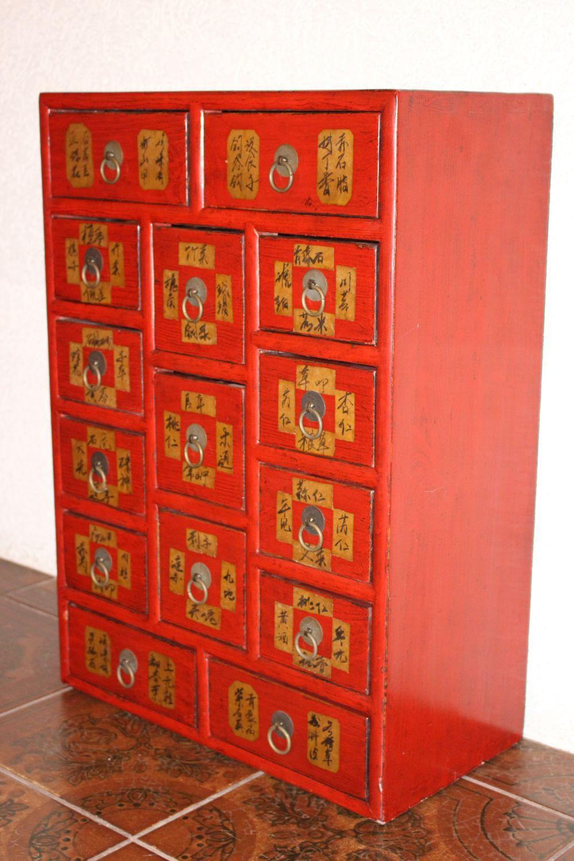 Chinesischer Apothekerschrank, 70,5 x 50 cm | zu kaufen auf asian ...