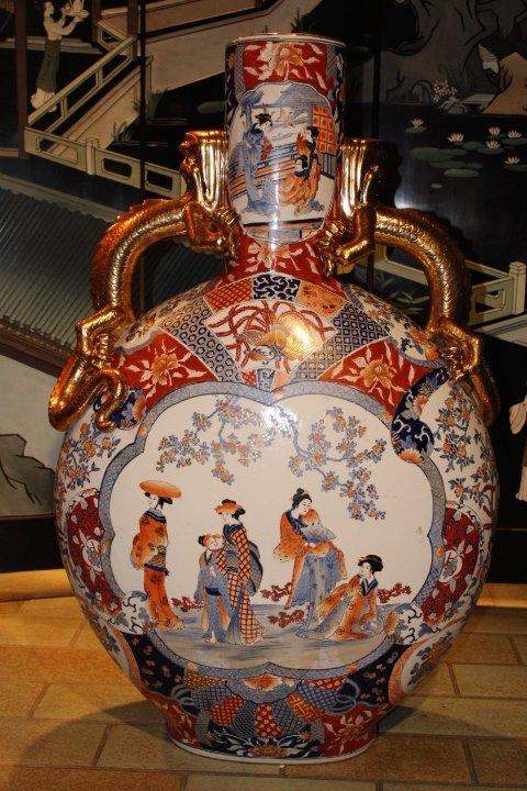 Chinesische Flaschenvase, 94 x 60 cm