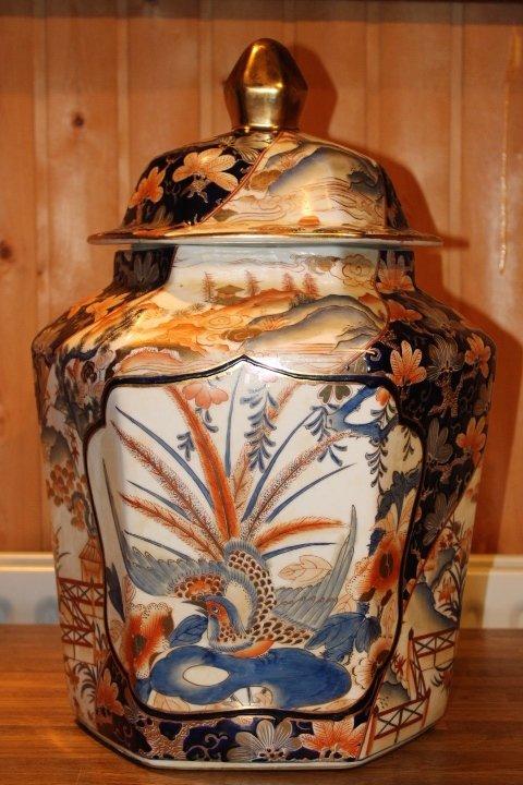 Deckelvase aus China, 55 x 37 cm