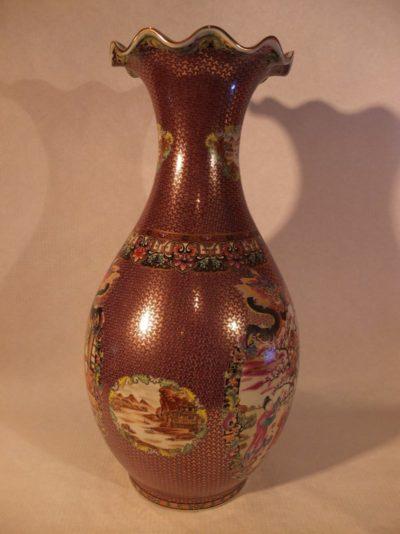 Verzierte hohe Vase aus China, 63 cm