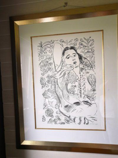 """Bilddruck """"Zeichnung Frau"""" Henri Matisse 57 x 75 cm"""