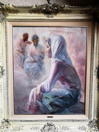 """Gemälde von Jose Marti """"Frau ohne Kind"""" 57 x 75 cm"""