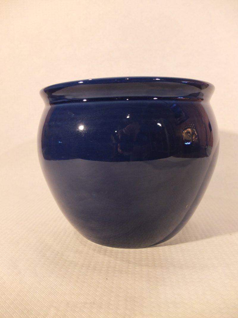 Blauer Blumentopf, 18 cm