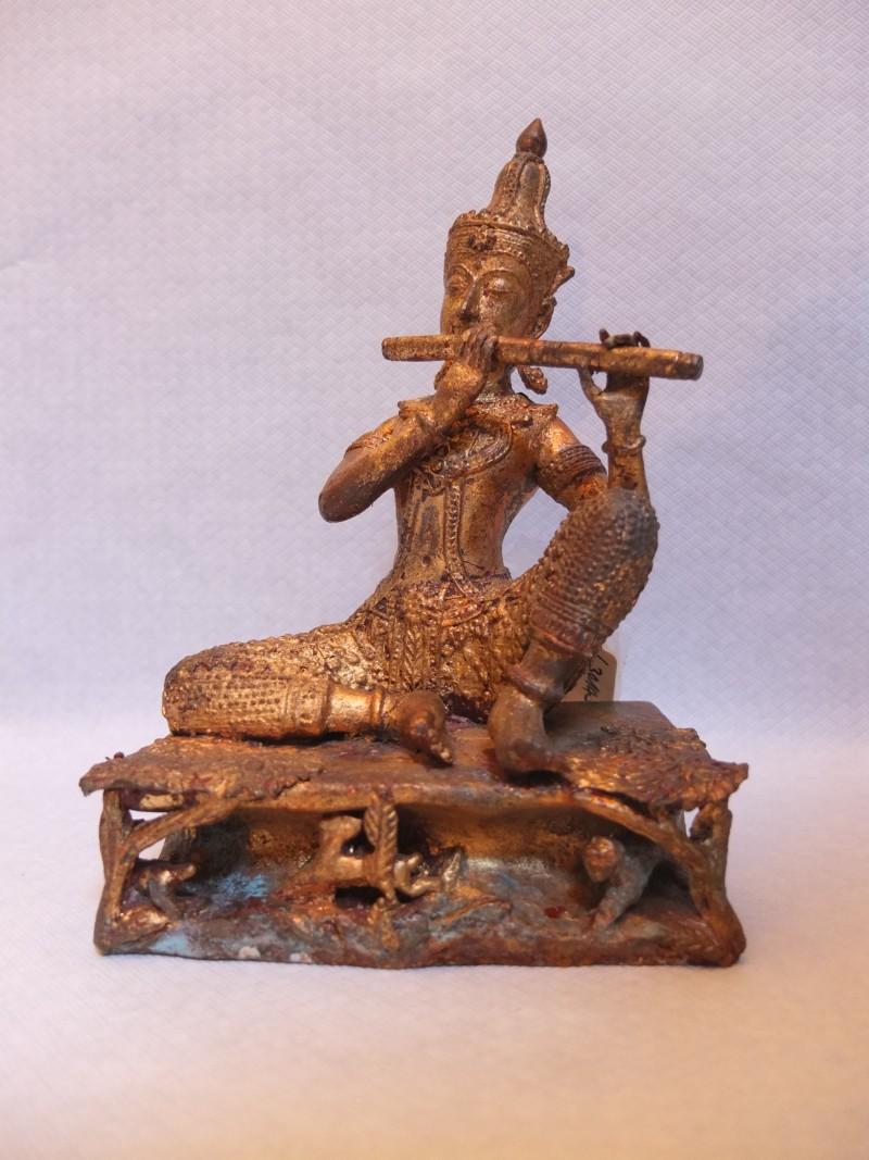 Bronze Figur Flötenspieler