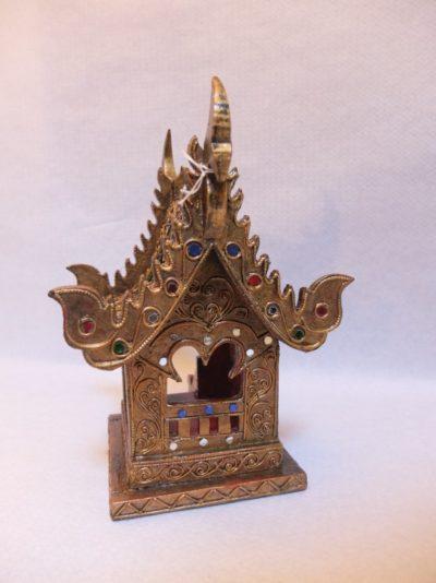 Holz Haus vergoldet Material: Holz, vergoldet Maße: 25 x 17 x 12 cm