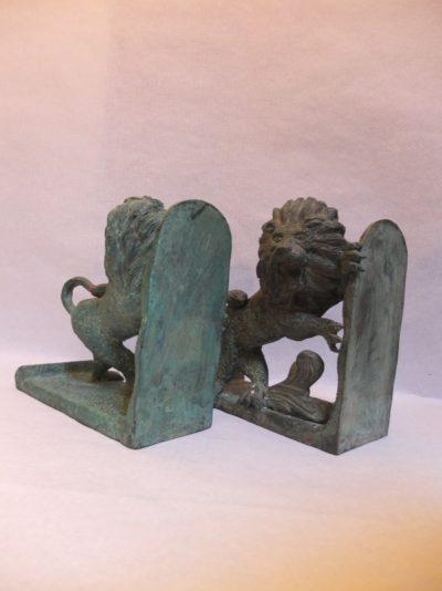 Bronze Löwen als Paar