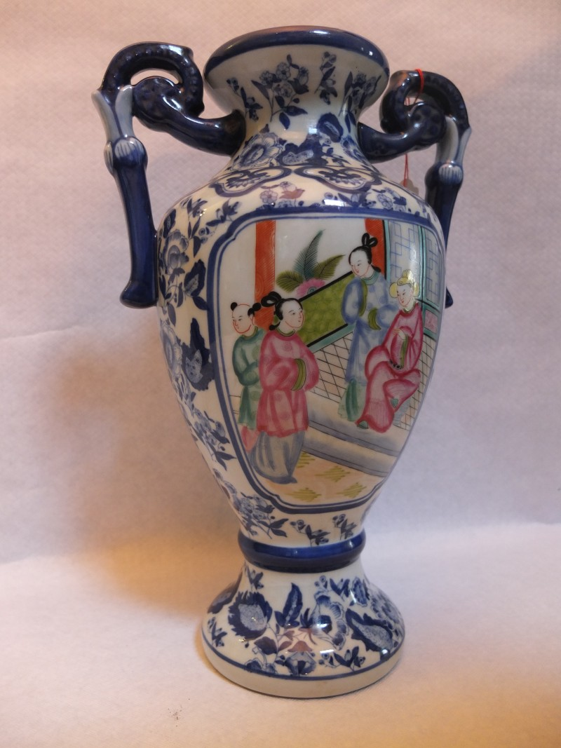 China Vase, Satzuma Material: Chinesisches Porzellan Maße: 32 x 14 cm