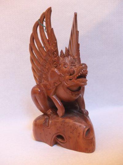 Drachenfigur aus Holz Material: Holz Maße: 24 x 13 cm
