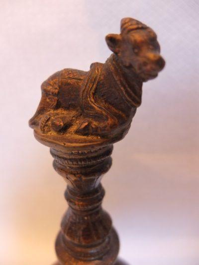 Antike Tempelglocke Material: Massive Bronze Herkunft: Thailand Maße: 18 x 5 cm