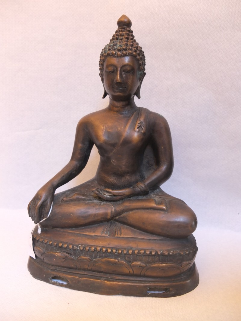 "Buddha Statue ""Shakyamuni"" Material: beste Bronze Motiv: Bronze Buddha sitzend Maße: 35 x 22 cm"