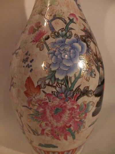 """China Vase """"Blumen"""" 60cm"""
