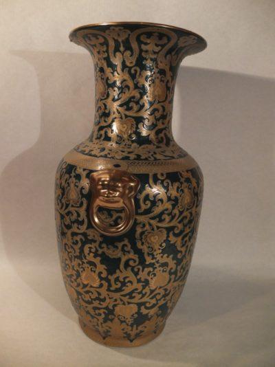 China Vase gold-schwarz, 63 cm